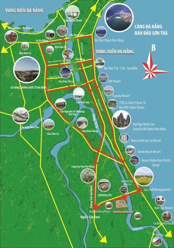 Vị trí Sentosa Riverside Đà Nẵng