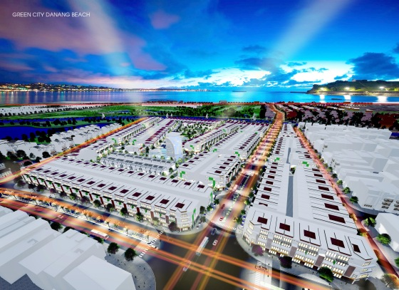 Phối cảnh dự án Green City Đà Nẵng ven biển kề sông